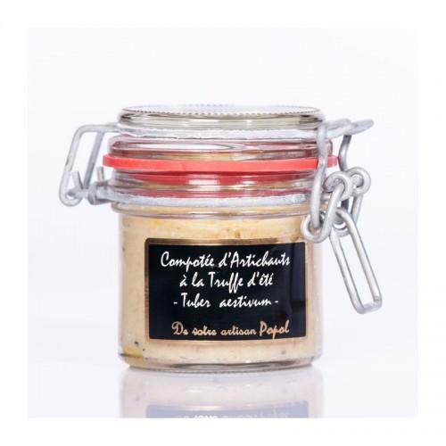 Compotée d'artichauts à la truffe d'été (tuber aestivum)