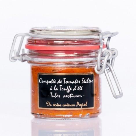 Compotée de tomates séchées à la truffe d'été (tuber aestivum)