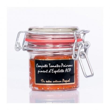 Compotée tomate, poivrons et piment d'Espelette AOP