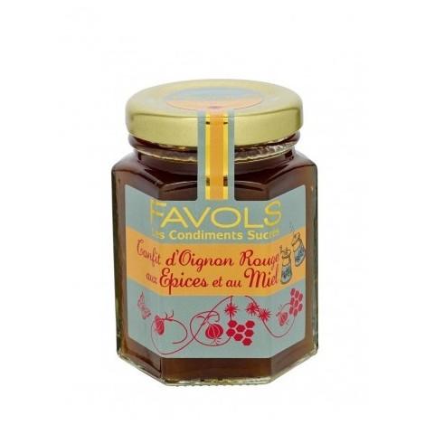 Chutney d'oignon rouge aux épices et au miel