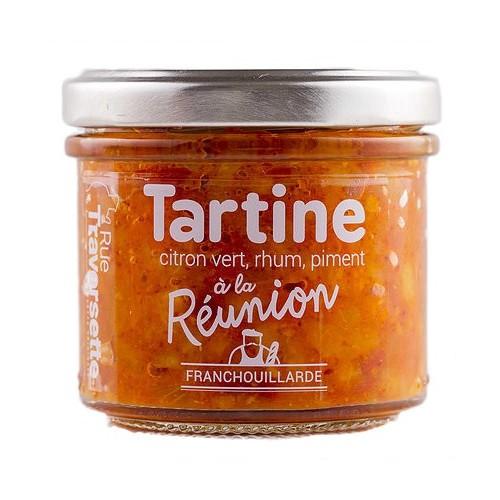 Tartine apéritive à la Réunion curry rhum