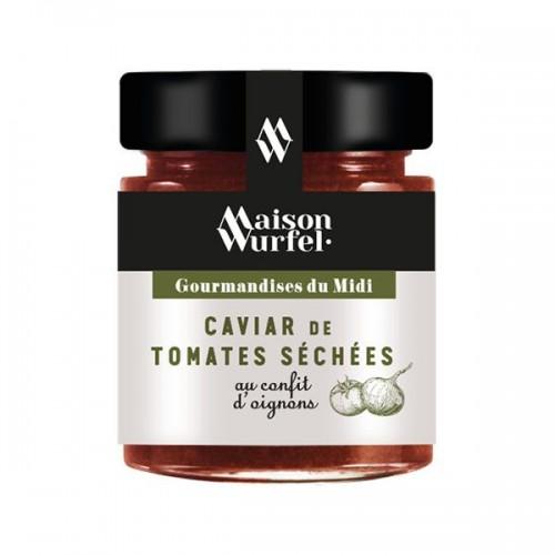 Caviar de tomates séchées au confit d'oignon