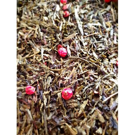 thé vert fruits rouges vanille L'île du dragon rouge
