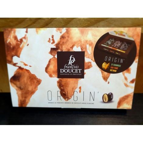 Coffret Origin' (amandes enrobées de chocolat noir)