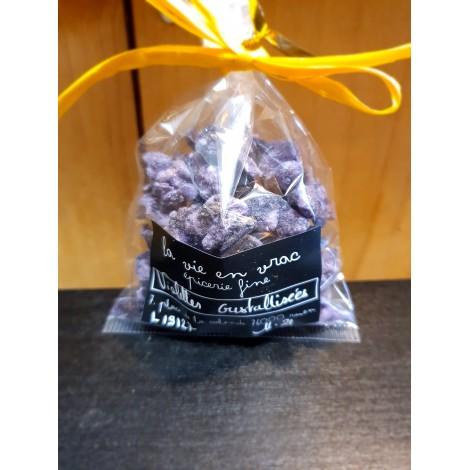 Fleurs de violette cristallisées