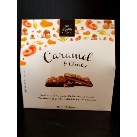 Caramel & chocolat lait & granola